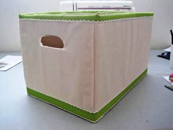 Мастер-класс по созданию картонной коробки для белья. Шаг 26