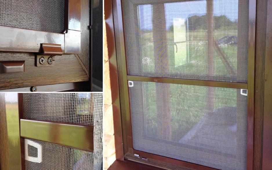 Окно с москитной сеткой