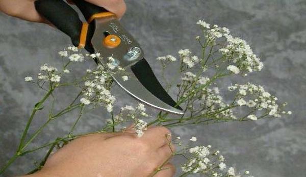 Мастер-класс по созданию венка из маленьких цветов. Шаг 1