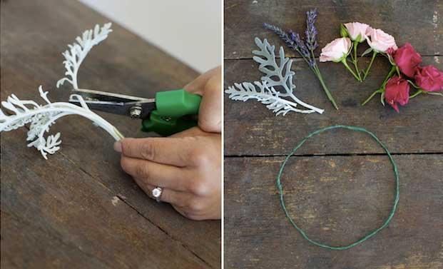 Мастер-класс по созданию венка из веточек лаванды и роз. Шаг 3