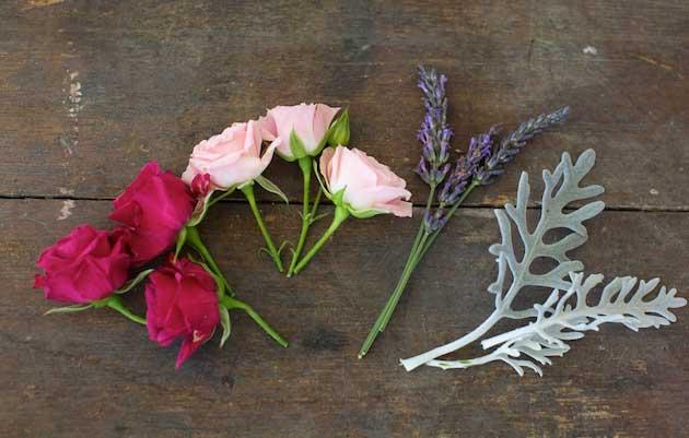 Мастер-класс по созданию венка из веточек лаванды и роз. Шаг 4