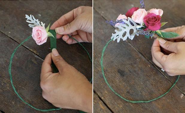 Мастер-класс по созданию венка из веточек лаванды и роз. Шаг 5