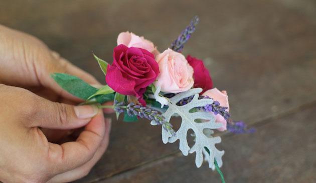 Мастер-класс по созданию венка из веточек лаванды и роз. Шаг 7