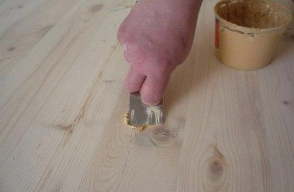 Шпатлевка деревянного пола