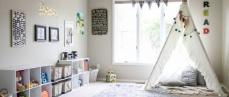Детская комната в светлых тонах